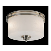 Cobalt 2 Light 12 inch Brushed Nickel Flush Mount Ceiling Light in Matte Opal