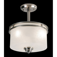 Cobalt 3 Light 12 inch Brushed Nickel Semi Flush Mount Ceiling Light