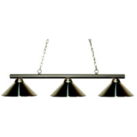 Sharp Shooter 3 Light 48 inch Brushed Nickel Billiard Ceiling Light in Brushed Nickel Metal