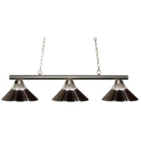 Sharp Shooter 3 Light 48 inch Brushed Nickel Billiard Ceiling Light in Both
