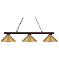 Shooter 3 Light 48 inch Bronze Billiard Light Ceiling Light