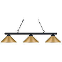 Sharp Shooter 3 Light 48 inch Matte Black Billiard Light Ceiling Light