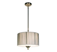Z-Lite Manhattan White/Silver/Brushed Nickel Pendant 157-15W