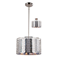 Z-Lite Saatchi 3 Light Pendant in Brushed Nickel 158-15