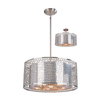 Z-Lite Saatchi 6 Light Pendant in Brushed Nickel 158-20