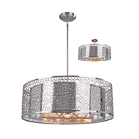 Z-Lite Saatchi 6 Light Pendant in Brushed Nickel 158-26