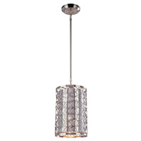 Z-Lite Saatchi 1 Light Mini Pendant in Brushed Nickel 158-6