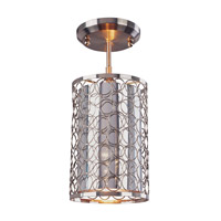 Z-Lite Saatchi 1 Light Pendant in Brushed Nickel 158-6SF