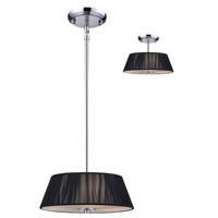 Z-Lite Millennium 2 Light Pendant in Black / Chrome 162-12BK-C