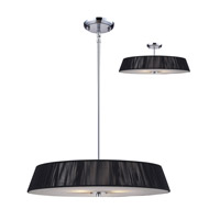 Z-Lite Millennium 3 Light Pendant in Black / Chrome 162-24BK-C