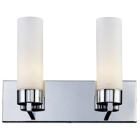 Z-Lite 163-2V Ibis 2 Light 15 inch Chrome Vanity Wall Light