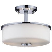 Z-Lite 163SF Ibis 3 Light 11 inch Chrome Semi Flush Mount Ceiling Light
