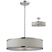 Z-Lite Cameo 3 Light Convertible Pendant in White/Chrome 164-20