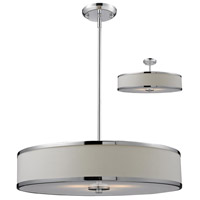 Z-Lite Cameo 3 Light Convertible Pendant in White/Chrome 164-24