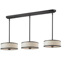 Z-Lite 165-16-3 Cameo 9 Light 60 inch Factory Bronze Island/Billiard Ceiling Light in 16