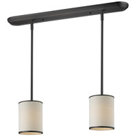 Z-Lite 165-6-2 Cameo 2 Light 30 inch Factory Bronze Island Light Ceiling Light in 6