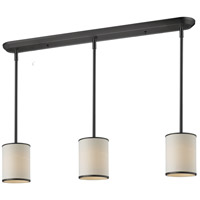 Z-Lite 165-6-3 Cameo 3 Light 48 inch Factory Bronze Island Light Ceiling Light in 6