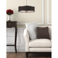 Z-Lite Cameo 3 Light Convertible Pendant in Chocolate/Brushed Nickel 167-20 alternative photo thumbnail