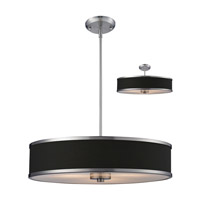 Z-Lite Cameo 3 Light Convertible Pendant in Chocolate/Brushed Nickel 167-24
