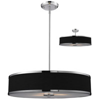 Z-Lite 168-24 Cameo 3 Light 24 inch Chrome Pendant Ceiling Light in Black and Chrome