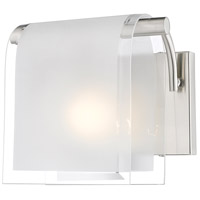 Z-Lite Zephyr 1 Light Wall Sconce in Brushed Nickel 169-1S-BN