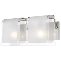 Zephyr 2 Light 15 inch Brushed Nickel Vanity Light Wall Light
