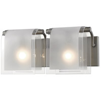 Z-Lite 169-2V-FB Zephyr 2 Light 15 inch Factory Bronze Vanity Wall Light