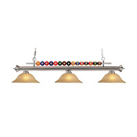 Z-Lite Shark 3 Light Island Light in Brushed Nickel 170BN-GL16