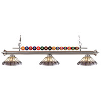 Z-Lite Shark 3 Light Island Light in Brushed Nickel 170BN-H14-4
