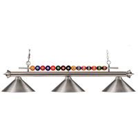 Z-Lite 170BN-MBN Shark 3 Light 58 inch Brushed Nickel Island Light Ceiling Light in Metal Brushed Nickel