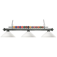 Z-Lite 170GM-AMO14 Shark 3 Light 60 inch Gun Metal Island Light Ceiling Light in Matte Opal Angular