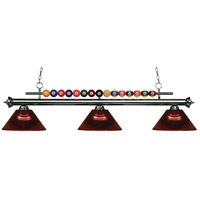 Z-Lite 170GM-ARBG Shark 3 Light 58 inch Gun Metal Island Light Ceiling Light in Acrylic Burgundy