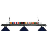 Z-Lite 170GM-MNB Shark 3 Light 58 inch Gun Metal Island Light Ceiling Light in Navy Blue Metal