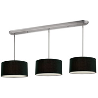 Albion 9 Light 60 inch Brushed Nickel Island Light Ceiling Light in Black
