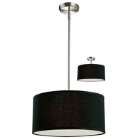 Albion 3 Light 16 inch Brushed Nickel Pendant Ceiling Light in Black