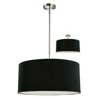 Albion 3 Light 24 inch Black/Brushed Nickel Pendant Ceiling Light in Brushed Nickel and Black