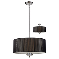 Z-Lite Soho 3 Light Pendant in Black/Chrome 172-20B-C