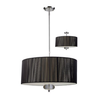 Z-Lite Soho 3 Light Pendant in Black/Chrome 172-24B-C