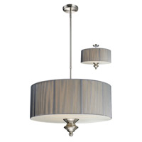 Z-Lite Manhattan 3 Light Pendant in Brushed Nickel/Silver 173-24S-C photo thumbnail
