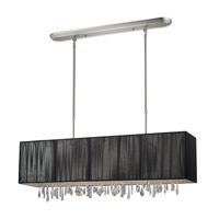 Z-Lite 173-36BK Casia 4 Light 36 inch Brushed Nickel Island Light Ceiling Light in Brushed Nickel and Black
