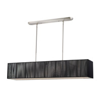 Casia 5 Light 10 inch Brushed Nickel Island Light Ceiling Light in Brushed Nickel and Black