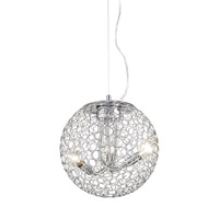 Z-Lite 175-12 Saatchi 3 Light 12 inch Chrome Pendant Ceiling Light