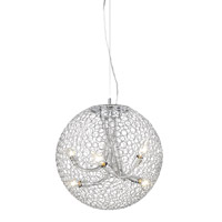 Saatchi 6 Light 18 inch Chrome Pendant Ceiling Light