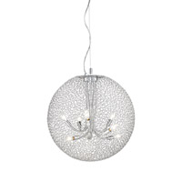 Saatchi 8 Light 24 inch Chrome Pendant Ceiling Light