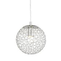 Z-Lite Saatchi 1 Light Pendant in Chrome 175-8