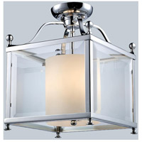 Fairview 3 Light 11 inch Chrome Semi Flush Mount Ceiling Light