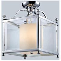 Z-Lite 176-3SF-M Fairview 3 Light 11 inch Chrome Semi Flush Mount Ceiling Light