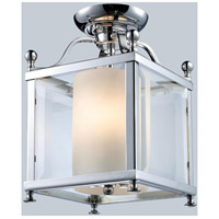 Fairview 3 Light 8 inch Chrome Semi Flush Mount Ceiling Light in 8.25