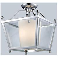 Z-Lite 178-3SF-M Ashbury 3 Light 12 inch Chrome Semi Flush Mount Ceiling Light in 12.25