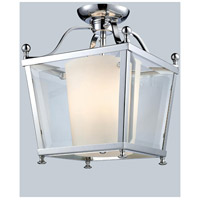 Ashbury 3 Light 11 inch Chrome Semi Flush Mount Ceiling Light in 10.88